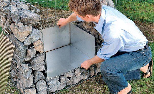 Создаём уличный камин-гриль (садовый очаг) из габионов. Обсуждение на LiveInternet - Российский Сервис Онлайн-Дневников