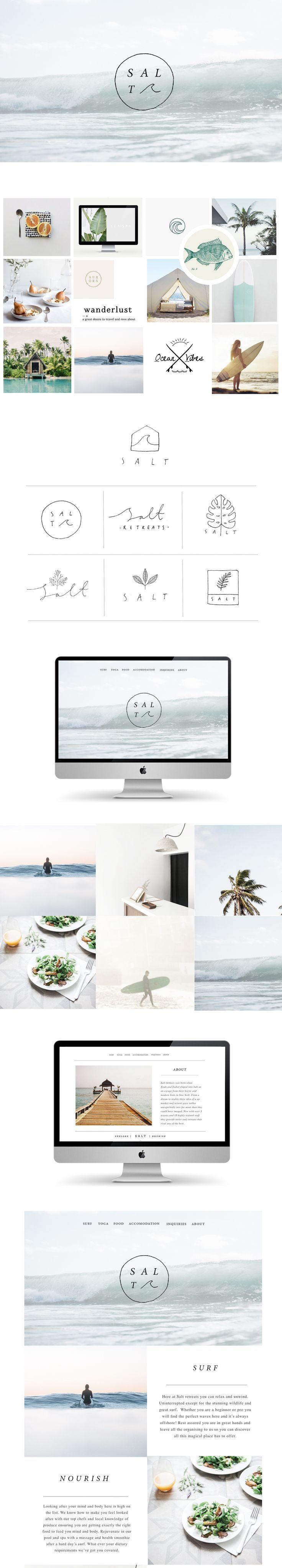 Branding and website design for Salt retreats by Ryn Frank www.rynfrankdesign.co.uk
