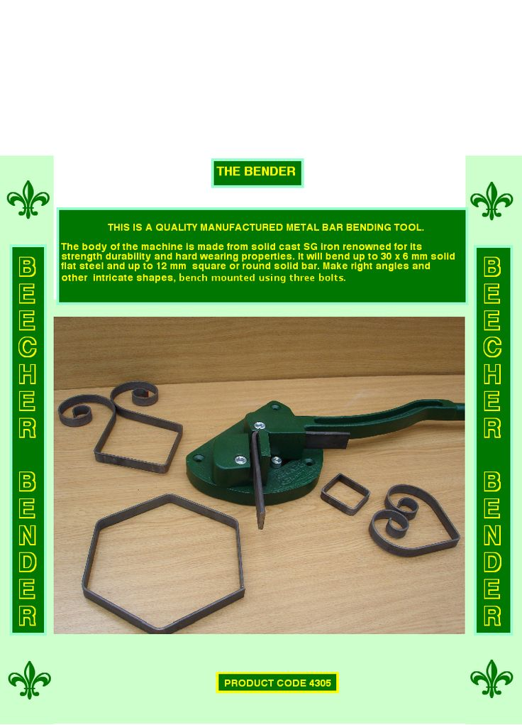 NO1 SCROLL FORMING TOOL, ANGLE BENDER, ROLL BENDING MACHINE FOR ROLLING ARCH TOPS, AND CIRCLES, RING ROLLER.