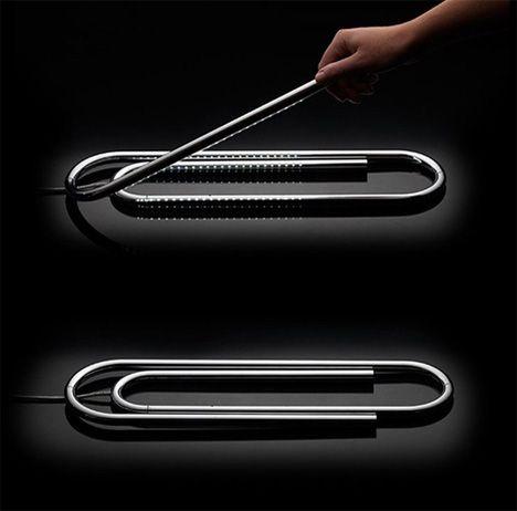The Paperclip Lamp | Yanko Design