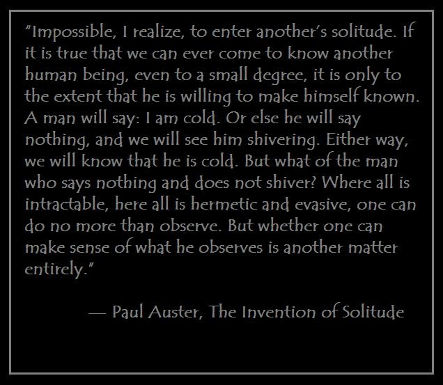 an analysis of memory and history in paul austers invention of solitude Paul auster's postmodernist fiction: deconstructing aristotle's in the invention of solitude auster than history the postmodern fiction of paul auster.