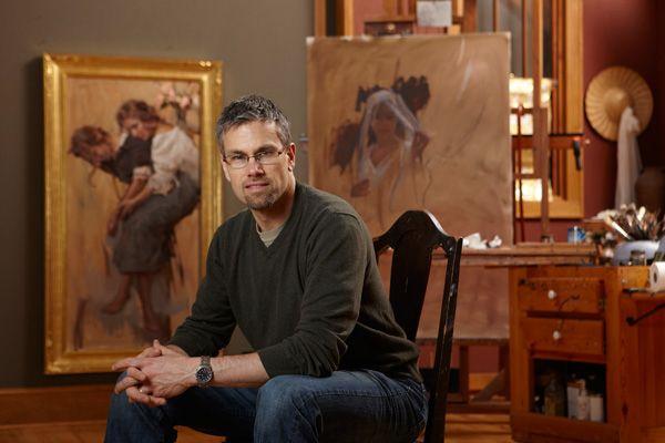 daniel gerhartz paintings | Photo of Dan Gerhartz in his studio from Southwest Art magazine ...