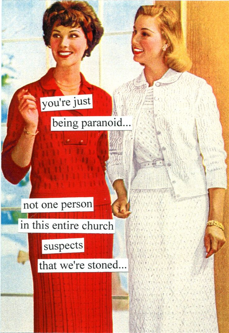 you're just being paranoid... not one person in this entire church suspects that we're stoned...