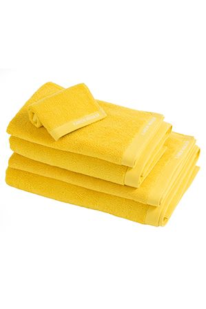 Karen Walker Home - Mode Towel Range in Primrose Yellow (Myer) $20 sale