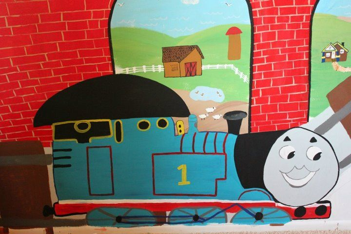Western Bedroom Tank Toy Box Or: 7 Best Children's Beautiful Hand Drawn And Painted Thomas