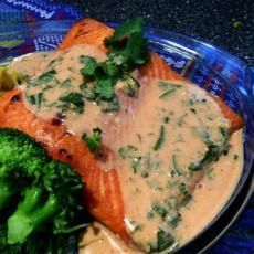 In a Heartbeat Atlantic Salmon With Red Curry Coconut Sauce