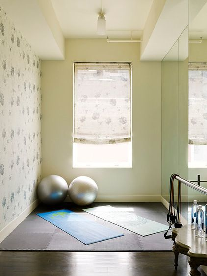 Contemporary Home Gym by Scordio Construction.inc