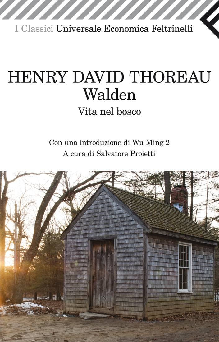 """Henry David Thoreau, """"Walden -   Vita nel bosco"""". Come può un libro all'apparenza così remoto nel tempo e nello sguardo sul mondo parlare come pochi altri al nostro presente? Walden è infatti il resoconto di due anni di vita solitaria che Henry Thoreau trascorse fra il luglio del 1845 e il settembre del 1847 nella campagna del Massachusetts. E tuttavia è il testo da cui oltre un secolo dopo prenderanno le mosse i movimenti ecologisti e ambientalisti di mezzo mondo..."""