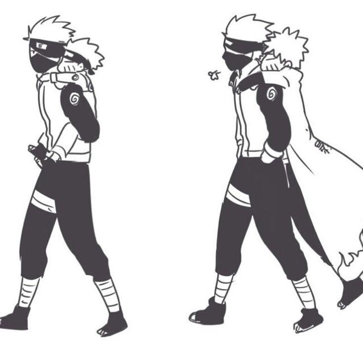 Kakashi and Naruto :) I love Kakashi Sensei