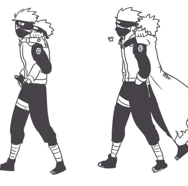 Kakashi and Naruto :) I love Kakashi Sensei