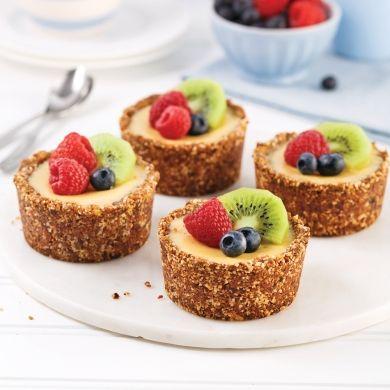 Gâteau au fromage, croûte aux amandes et dattes - Recettes - Cuisine et nutrition - Pratico Pratique