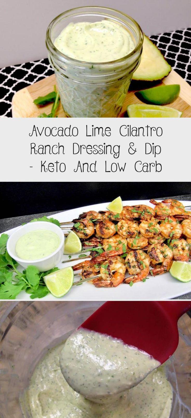 Avocado lime cilantro ranch dressing dip keto and low