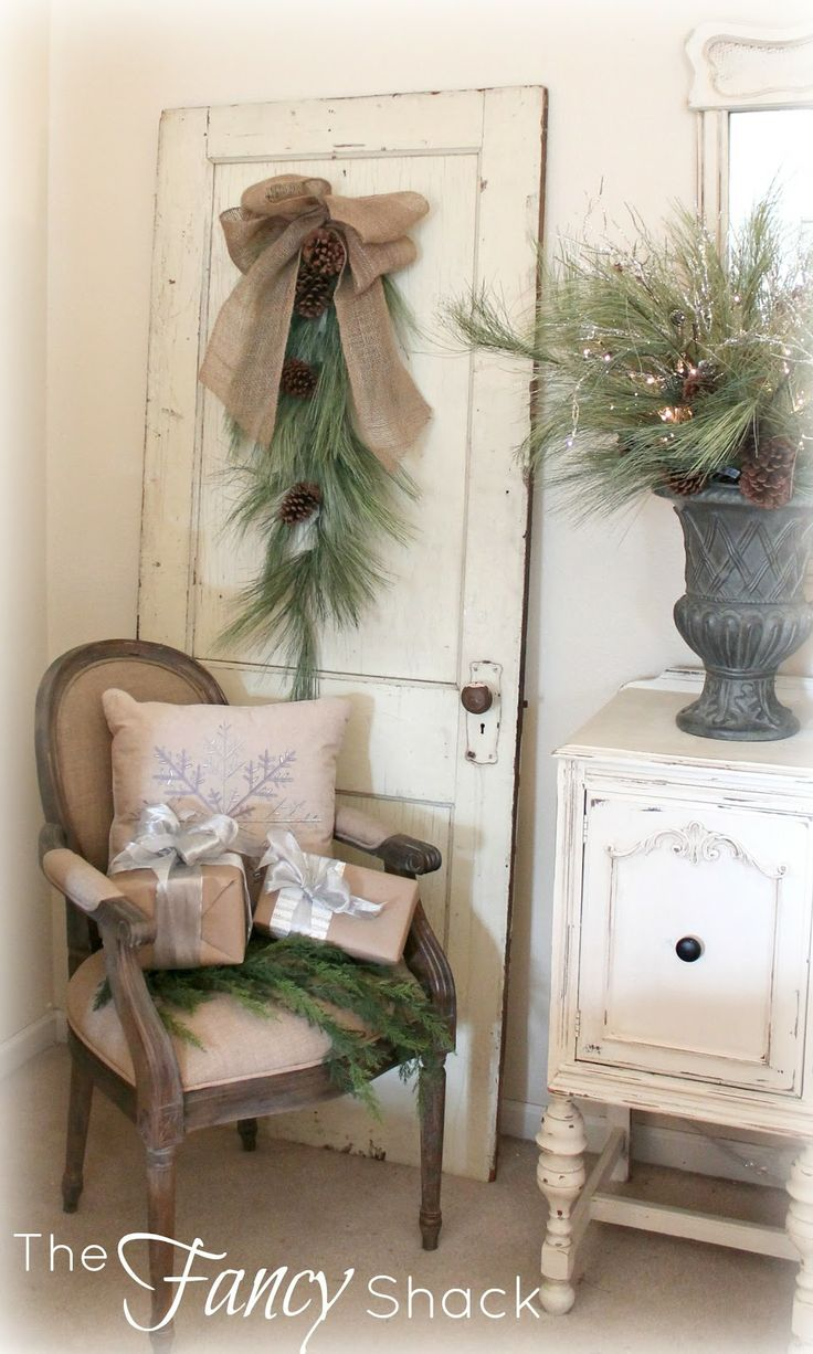 Holiday lodge rustic woodland decorations youtube - The Fancy Shack A Christmas Tour Vignettes Cottage Christmas Decoratingholiday