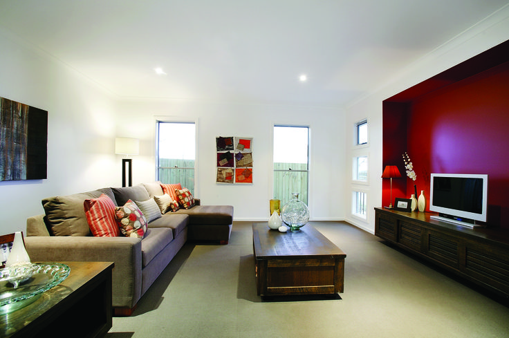 Albany Design Living Area #newhomes #melbournehomes #1sthomebuyers