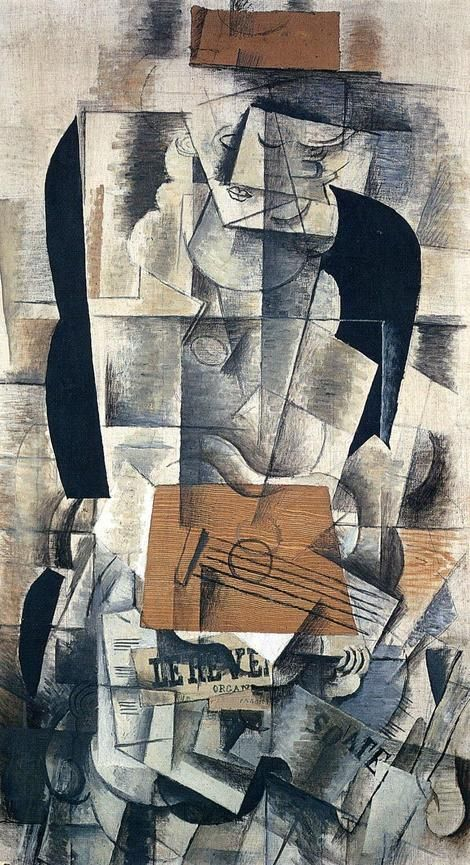 Georges Braque, Woman with Guitar (1913) on ArtStack #georges-braque #art