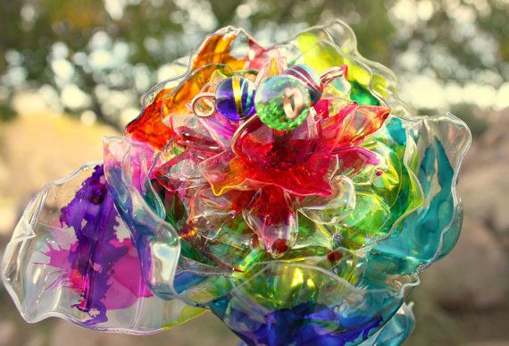 176 Best Images About Plastic Flowers On Pinterest