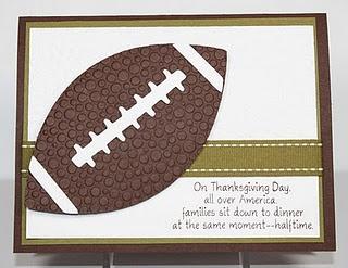 Thanksgiving football card - so cute!