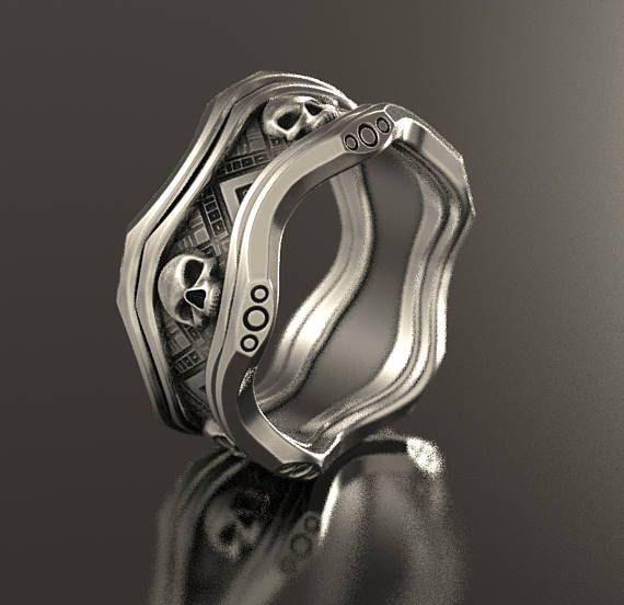 Skull Wedding Ring Alien Ring Geek Wedding Ring Sci Fi
