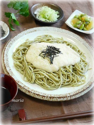 とろろと茶そばでランチ by mariaさん   レシピブログ - 料理ブログの ...