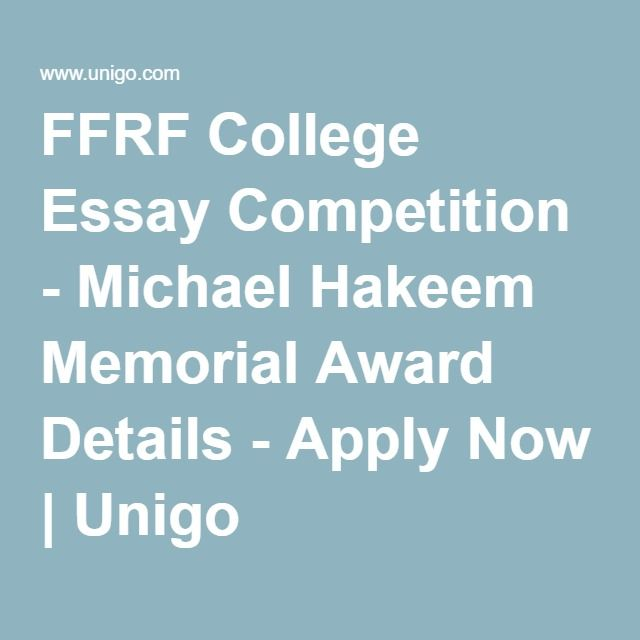 FFRF College Essay Competition - Michael Hakeem Memorial Award Details - Apply Now | Unigo