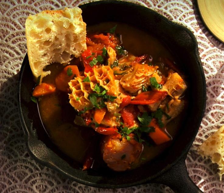 Poêlée de tripes, tomate et chorizo