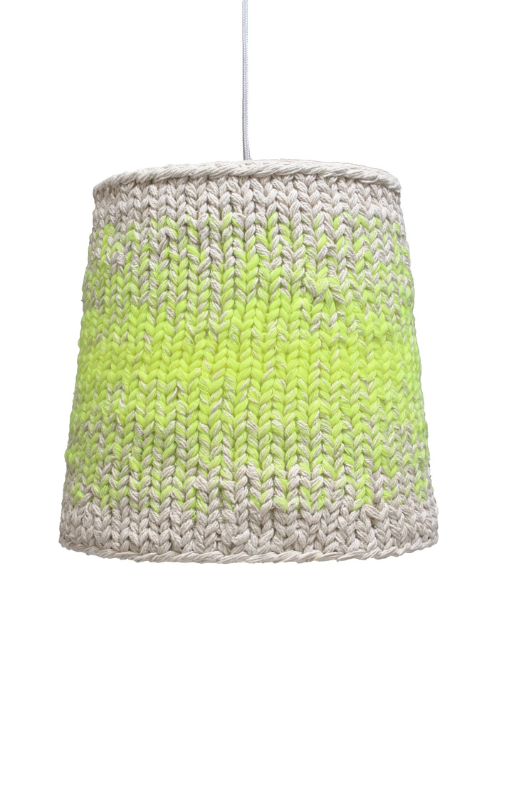 DIY Inspiration - knitted neon lamp