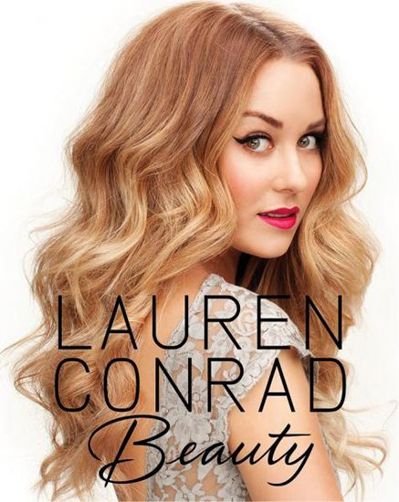 WOW. Lauren Conrad looks incredible on the cover of her new Beauty book! Cat eyes, pink lips, can't lose.