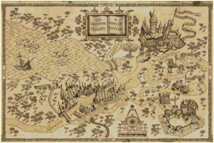 Harry Potter Cross Stitch Pattern Pdf Marauder S Map
