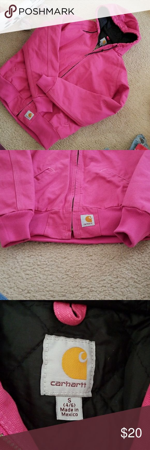 Carhartt Winter Jacket Pink/Fusia Pink sm winter jacket. Fits big almost like a medium. NEVER worn. NWOT. Open to offers. Carhartt Jackets & Coats