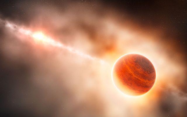 Recreación artística del planeta gigante gaseoso alrededor de la estrella HD 1005460. | ESO