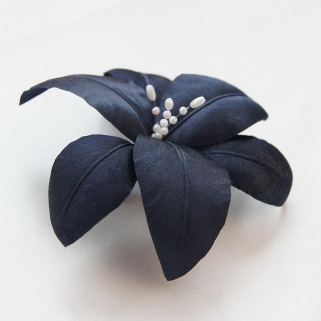 Лилия шелковая на зажиме - Ярмарка Мастеров - ручная работа, handmade