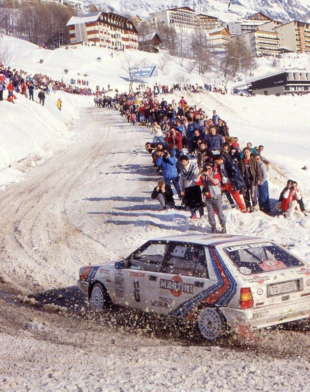1987 MONTE CARLO RALLY - Lancia Delta HF 4wd. Entrant: Lancia Martini. Drivers: Miki Biasion / Tiziano Siviero. Place: 1st o/a.