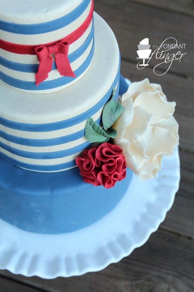 Cake Decorating Fondant Stripes : 32 best Fondant Flinger Birthday Cakes images on Pinterest ...