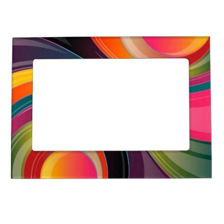 Abstract spiral rainbow colorful design magnetic frame - tap, personalize, buy right now!. customize to add text to this design #multicolordesign #goldpinkblue #prismaticrainbow #illustrationgraphicarts