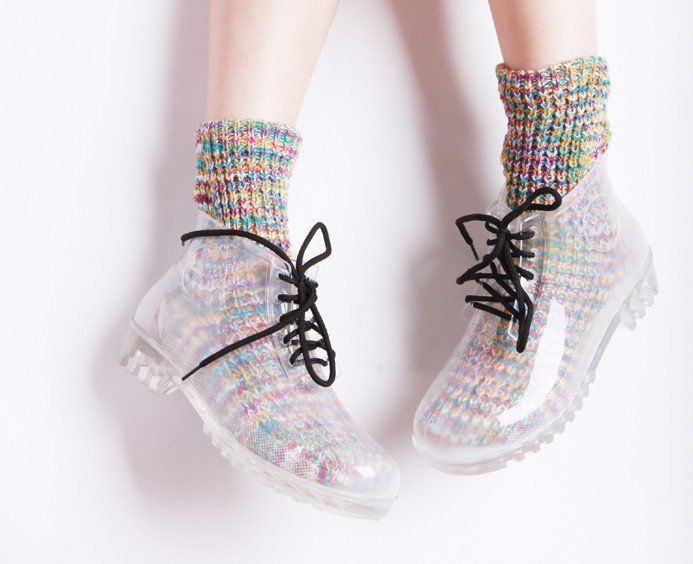 2012 Japan Top Sales Clear Rainboots,Free Shipping,Retail  Wholesale,Fashion Women's Rain Boots A0001 $34.00