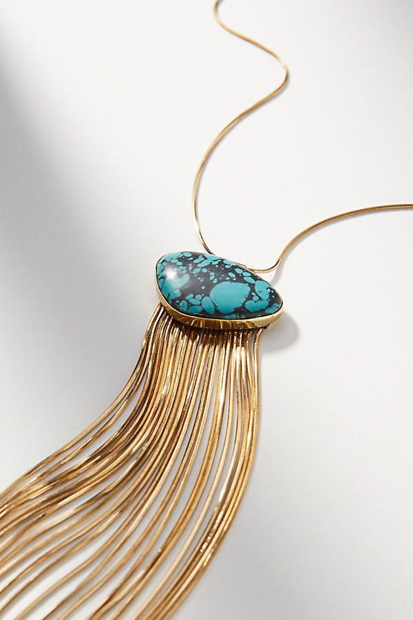 NEW Anthropologie Mimi Scholer Serpent Snake Swarovski Agate Pendant Necklace  #LenaBernard #Pendant