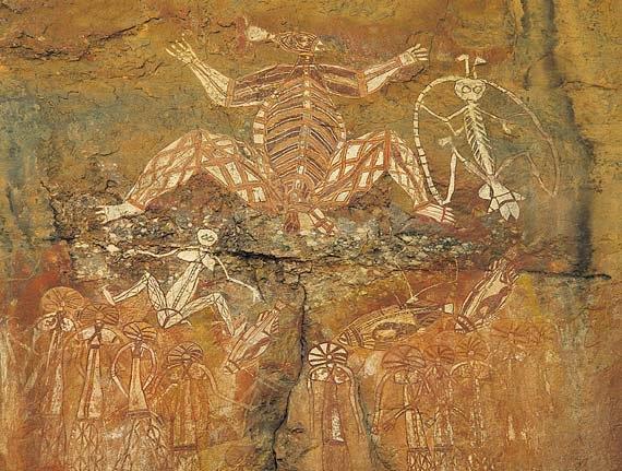 Australian aborgine rock painting