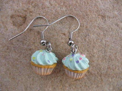 Cupcake Dangle Earrings