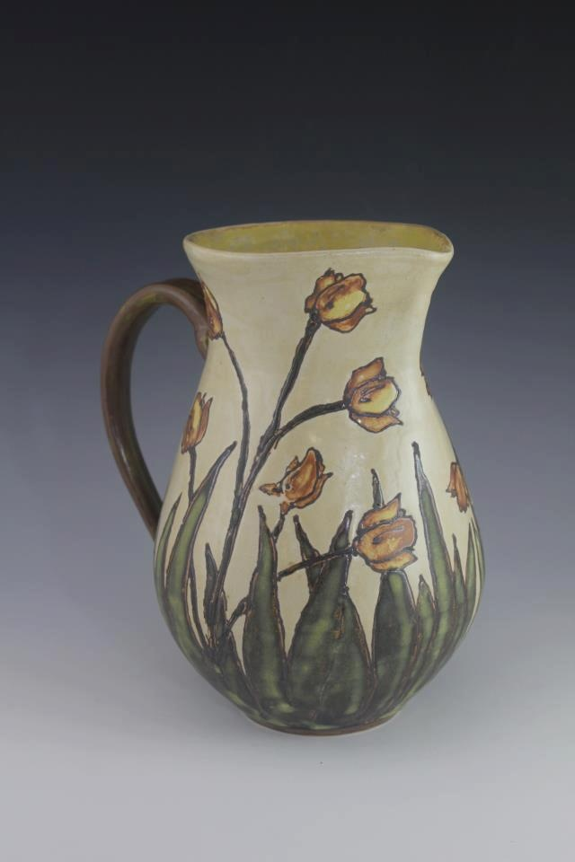 109 best sassafrass pottery images on pinterest art and for Arts and crafts pottery makers