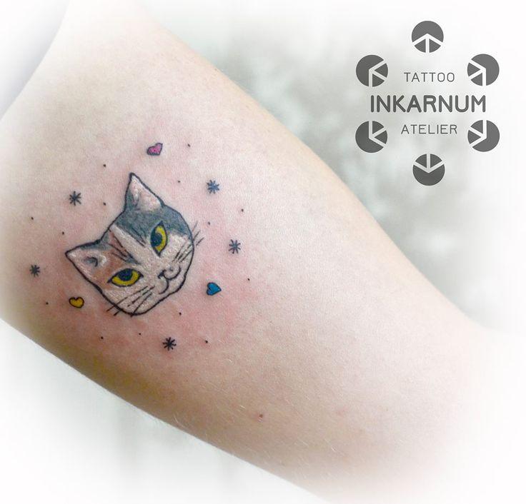 #tattoo #littletattoo #cute #cat #kitty #cattattoo