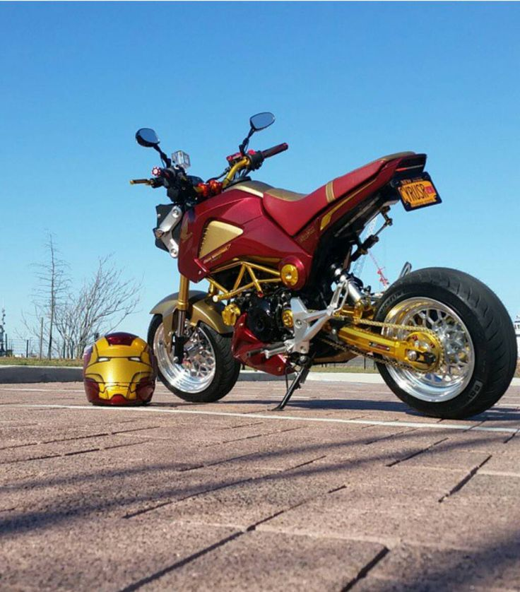 Iron Man Honda Grom Motorcycle