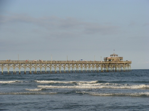 A beautiful shot of the Cherry Grove Pier located only steps away from our beautiful North Myrtle Beach hotel.