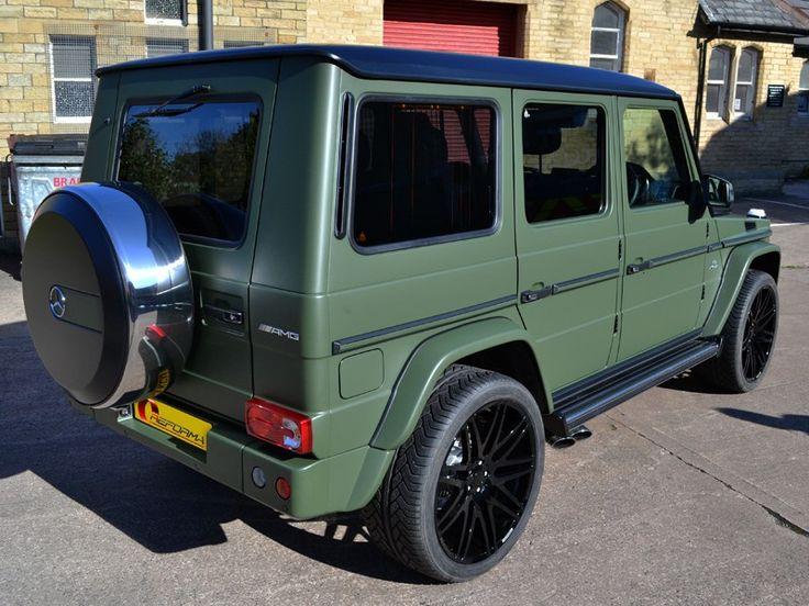 G63 AMG Matte Military Green Car Wrap ReformaUK
