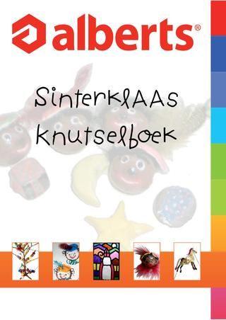 Sinterklaas Knutselboek Alberts BV. Er staat een hele leuke techniek in: kartondruk. Voor de bovenbouw