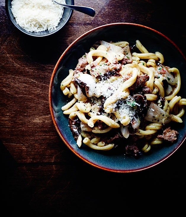 Cooked in sage and garlic, the pork and fennel sausages soak up their flavours in this fantastic pasta recipe.