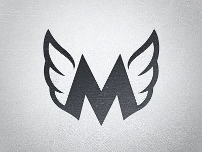 Mighty Dream by Eric Grossnickle. Wing logo. #logo #inspiration #design