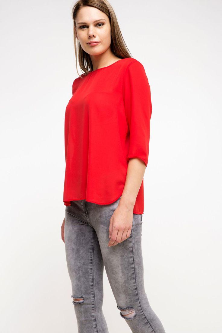 DeFacto Marka Trend Bluz || Tasarımı ve rahat kalıbı ile her bayanın mutlaka dolabında olması gereken, her renk pantolon ve etekle kolayca kombinlenebilen DeFacto bayan trend bluz                         http://www.1001stil.com/urun/3197093/trend-bluz.html?utm_campaign=DeFacto&utm_source=pinterest