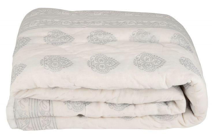 Bavlněný přehoz Silver pattern white 180x130   Bella Rose