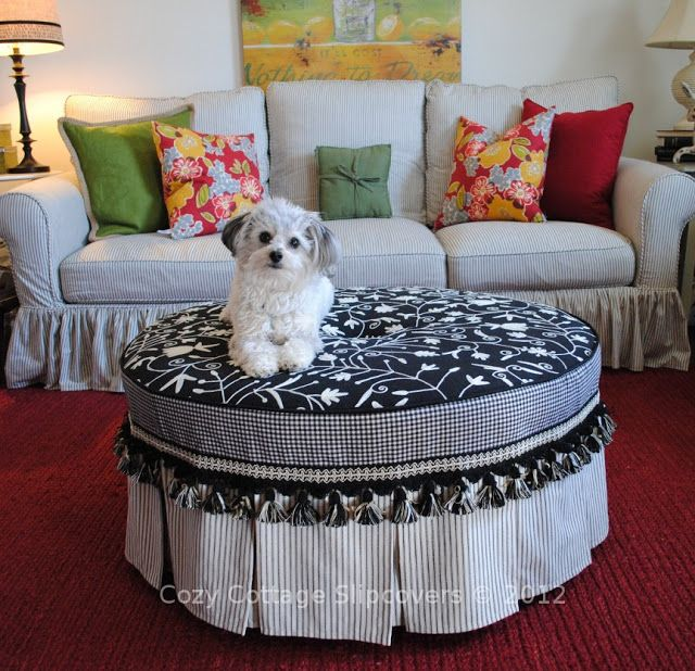 17 Best Ideas About Round Ottoman On Pinterest Large