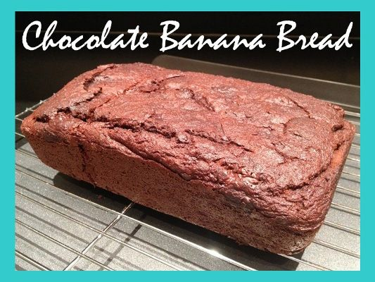 Can't tell you how excited I am about this!!  Paleo Recipe - Chocolate Banana Bread